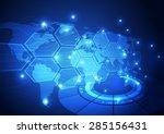 vector digital global... | Shutterstock .eps vector #285156431