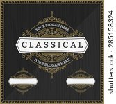 vintage badge and labels brand... | Shutterstock .eps vector #285158324