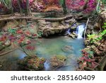 waterfalls in deep forest at... | Shutterstock . vector #285160409