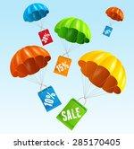 Vector Illustration Parachute...