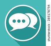 retro style bubble speech icon...
