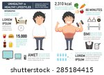 the comparison of the man who... | Shutterstock .eps vector #285184415