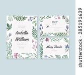 unique gentle vector wedding... | Shutterstock .eps vector #285191639