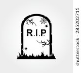 gravestone icon | Shutterstock .eps vector #285202715