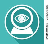 icon eye on white circle with a ...   Shutterstock .eps vector #285206501