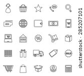e commerce line icons on white... | Shutterstock .eps vector #285207101