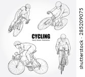 vector illustration of cycling | Shutterstock .eps vector #285209075