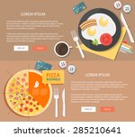 flat design illustration... | Shutterstock .eps vector #285210641