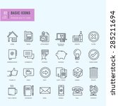 thin line icons set. universal... | Shutterstock .eps vector #285211694