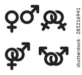 male and female gender symbols... | Shutterstock .eps vector #285216941