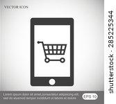 mobile vector icon | Shutterstock .eps vector #285225344