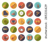 musical instruments circular... | Shutterstock .eps vector #285231629