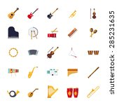 musical instruments isolated... | Shutterstock .eps vector #285231635