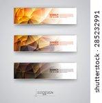 business design templates. set... | Shutterstock .eps vector #285232991