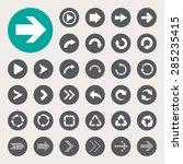 basic arrow sign icons set...