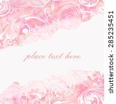 watercolor floral background... | Shutterstock .eps vector #285235451