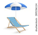 sun beach umbrella with beach... | Shutterstock .eps vector #285236114