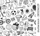 hand drawn doodle sport... | Shutterstock .eps vector #285236129