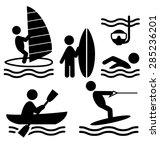 Summer Water Sport Pictograms...
