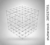 Wireframe Polygonal Element. 3...