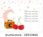 kid education vector  c for... | Shutterstock .eps vector #28523860