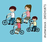 family cycling | Shutterstock .eps vector #285241871