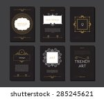 vintage elegant cards with... | Shutterstock .eps vector #285245621