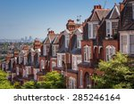 brick houses on a panoramic... | Shutterstock . vector #285246164