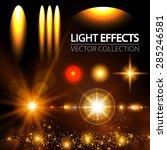 light effect set. spotlights ... | Shutterstock .eps vector #285246581
