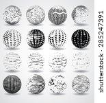 globe made from stripes ... | Shutterstock .eps vector #285247391