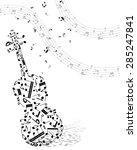 musical design elements from... | Shutterstock .eps vector #285247841
