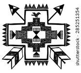 native american style tribal... | Shutterstock .eps vector #285251354