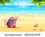 summer illustration with a... | Shutterstock .eps vector #285252539