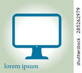 computer display sign icon....