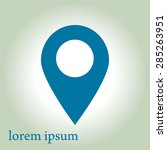map pointer icon. gps location...