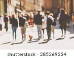 street cafe in barcelona with...   Shutterstock . vector #285269234
