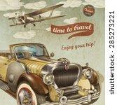 vintage travel poster | Shutterstock . vector #285273221