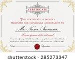 premium certificate template... | Shutterstock .eps vector #285273347