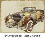 vintage car | Shutterstock . vector #285273455