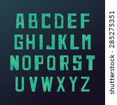 low poly style alphabet letters.... | Shutterstock .eps vector #285275351