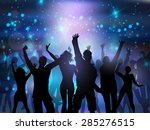 silhouettes of people dancing... | Shutterstock .eps vector #285276515