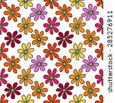 floral seamless pattern. bright ...   Shutterstock .eps vector #285276911