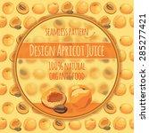 banner design 100  apricot... | Shutterstock .eps vector #285277421