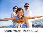 happy family enjoy summer... | Shutterstock . vector #285278261