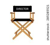 film director chair vector... | Shutterstock .eps vector #285285521