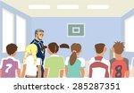 physical education teacher at... | Shutterstock .eps vector #285287351