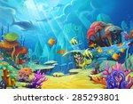 illustration  the mountain in... | Shutterstock . vector #285293801