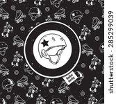 roller skate seamless pattern... | Shutterstock .eps vector #285299039