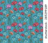 hand drawing ornamental... | Shutterstock .eps vector #285299189