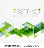 abstract geometric background.... | Shutterstock .eps vector #285299477